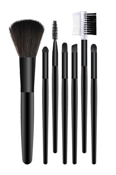 Hedy Beauty 7'li Makyaj Fırça Seti Siyah Renk