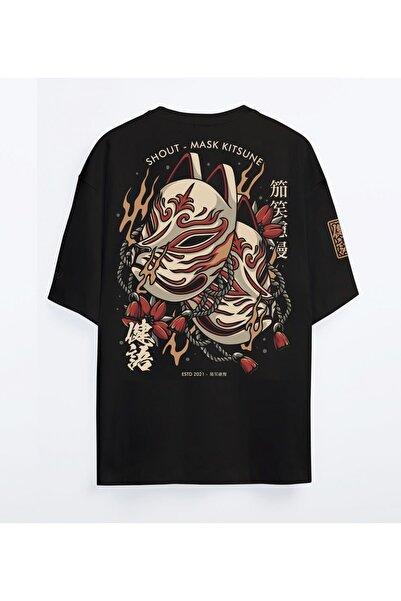 Shout Oversize Mask Kitsune Unisex T-Shirt