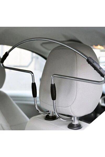 MeyZone Oto Araç Koltuk Arkası Araba Koltuk Elbise Askısı Metal Krom Askı