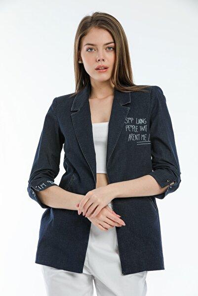 SİSLİNE Kadın Kot Blazer Ceket