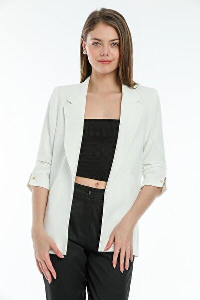 SİSLİNE Kadın Ekru Blazer Ceket