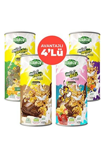 Kaykan Natural Foods Müsli Choco + Müsli Kids + Müsli Meyve + Müsli Protein Granola 580 gr 4'lü Paket