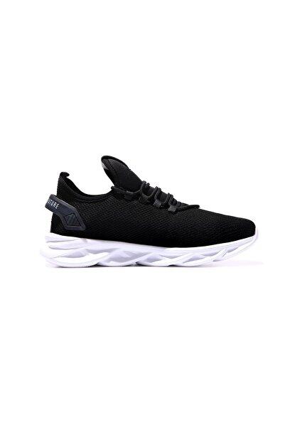 Tommy Life Tommylife Siyah-beyaz Erkek Lastik Bağcıklı Nakış Detaylı Yüksek Taban Spor Ayakkabı-89053