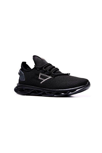 Tommy Life Tommylife Siyah Erkek Lastik Bağcıklı Nakış Detaylı Yüksek Taban Spor Ayakkabı-89053