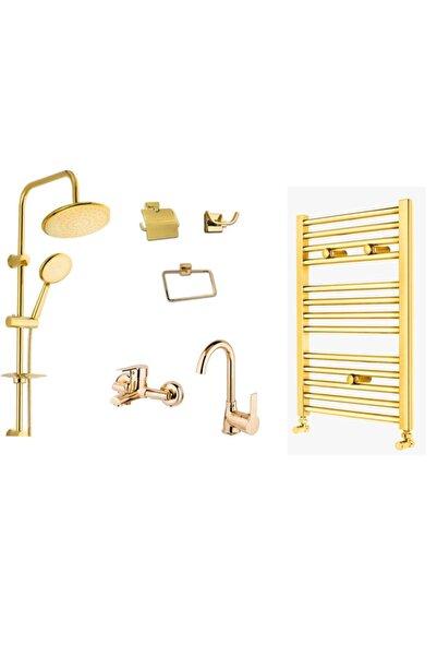 Bando Altın Komple Banyo Set