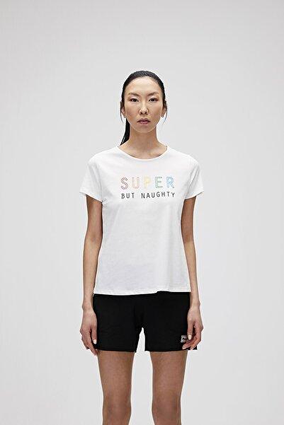 Bad Bear Kadın Kırık Beyaz Tişört Super Tee