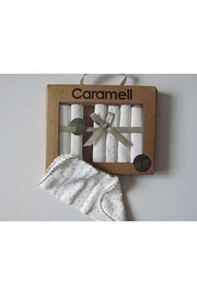Caramell 7'li Organik, Penye Bebek Ağız Mendili ( 20x20 Cm)