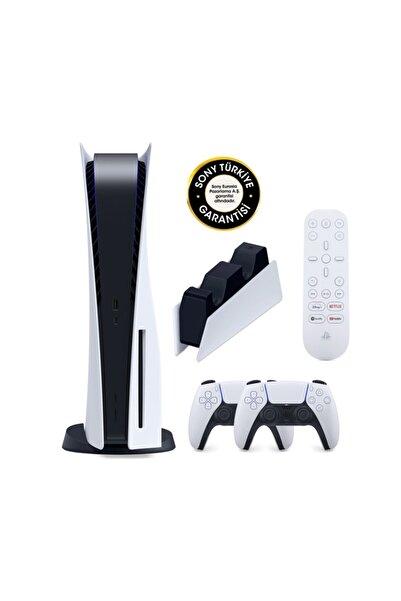 Sony Playstation 5 Oyun Konsolu + 2. Ps5 Dualsense + Şarj Istasyonu + Medya Kumandası
