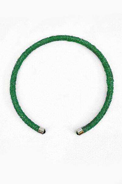 TAKIŞTIR Yeşil Renk Tasma Kolye