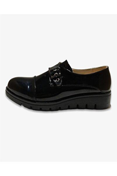 ALYA Kadın Siyah Parlak Klasik Ayakkabı