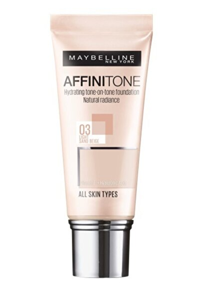 Maybelline New York Affinitone Fondöten - 03 Light Sandbeige