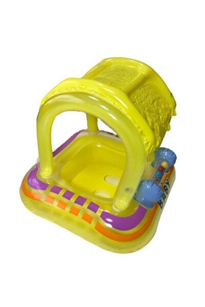 Bestway&Intex Gölgelikli Deniz Ve Havuz Bebek Oturağı Bebek Simidi 61 Cm X 61 Cm