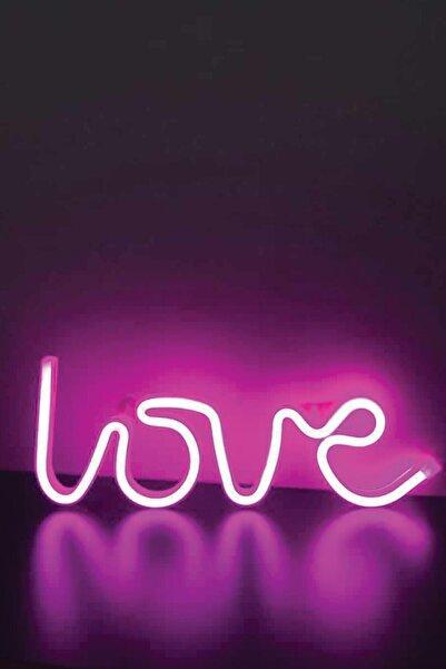 MAGICLEDCORNER Neon Love Pembe