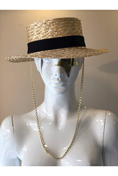 DESS DESIGN Boıte Straw Hat (zincirli Hasır Şapka )