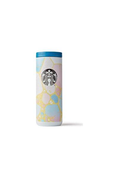 Starbucks ® Pembe-mavi Renkli Termos 473ml