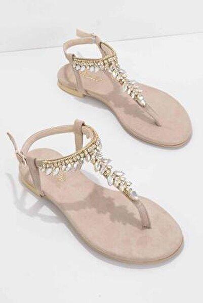 Bej Süet Kadın Sandalet K05544006065