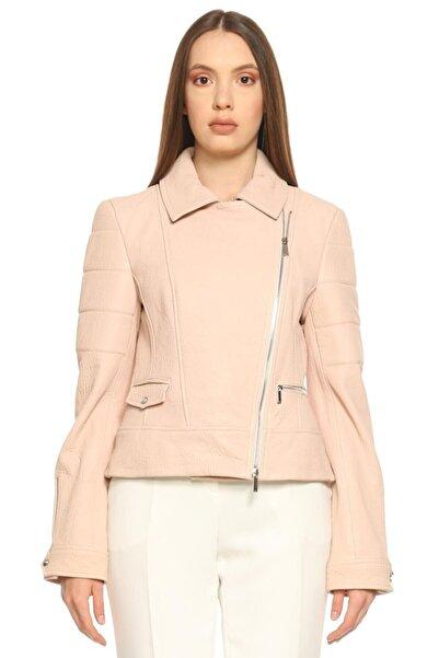 Karen Millen Kadın Pembe Deri Ceket