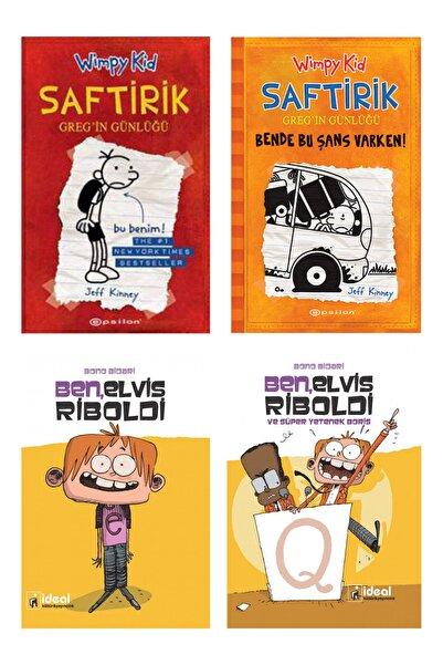 Epsilon Yayınevi Çocuklar Için Eğlenceli Kitap Serisi 4'lü Set (saftirik Greg'in Günlüğü 1-9+ben, Elvis Riboldi 1-4)