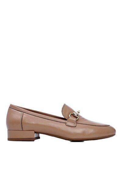 KEMAL TANCA Kadın Bej Derı Loafer Ayakkabı 759 2913 Bn Ayk Y21