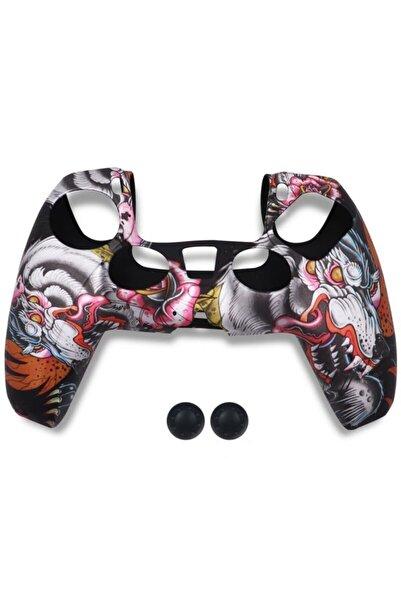 Moda Yedi Playstation 5 Dualsense Gamepad Slikon Koruyucu Set, Ps5 Slikon Kılıf Ve Analog Koruyucu
