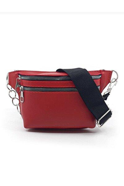 CuCu Bag's Kadın Kırmızı Bel Çantası