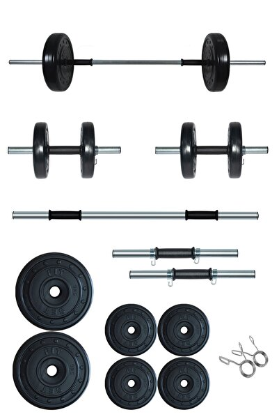 Fitset 35 kg Kombo Halter ve Dambıl Seti Ağırlık Fitness Seti