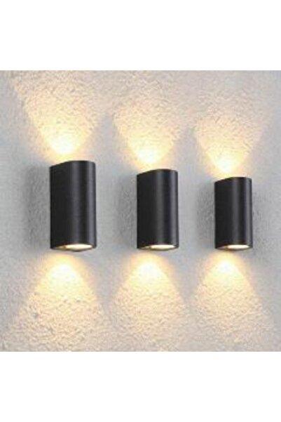 sekizgen led Enjeksiyon Döküm Günışığı Ledli Çift Yönlü Oval Dış Mekan Aplik Siyah Renk Kasa