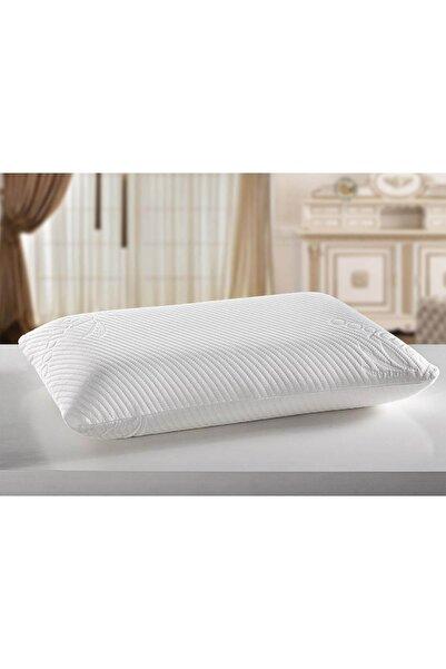 Sleeptime Beyaz Ortopedik Bambu Kılıflı Medikal Kokusuz Gerçek Visco Yastık Klasik 12 cm Yükseklik Vkl-02