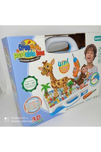 CREATIVE Matkaplı Eğitici 3d Puzzle Ve Mozaik Puzzle 8 Farklı Hayvan Çeşitli Creative Portable Box