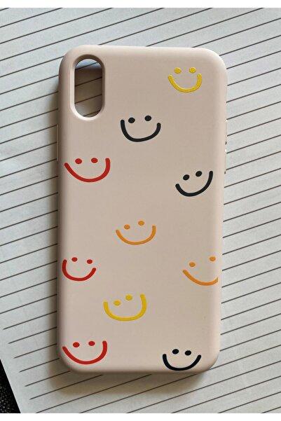 Mislina Iphone X Ve Xs Uyumlu Smile Desenli Baskılı Lansman Koruyucu Kapak Kılıf