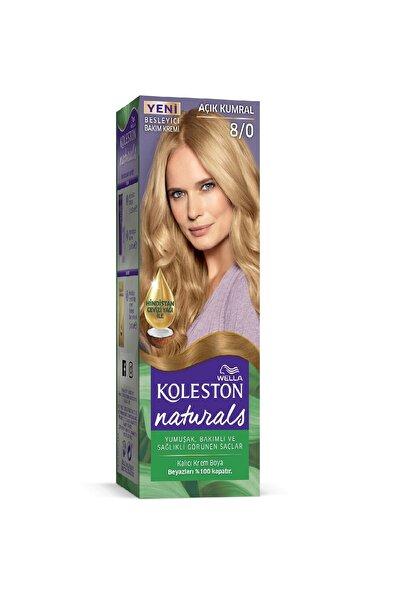 Koleston Naturals Kalıcı Krem Saç Boyası - 8.0 Açık Kumral
