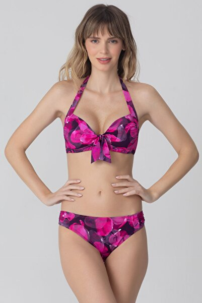 Kom Kadın Pembe Rodon Bikini
