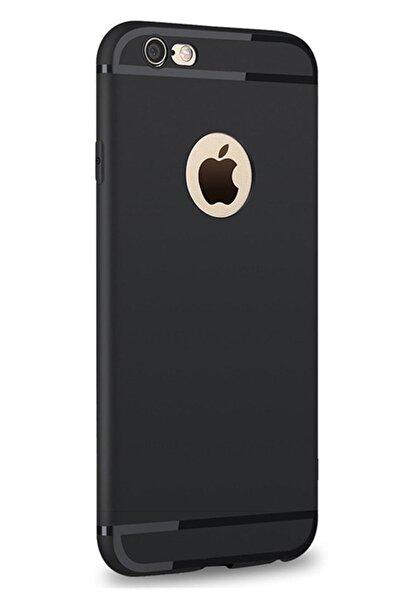 TeknoŞehir Iphone 6 / 6s Uyumlu Kılıf Ultra Ince Tıpalı Siyah Silikon Kılıf