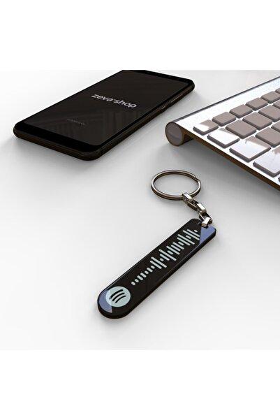 ZevaShop Özel Spotify Barkodlu Anahtarlık