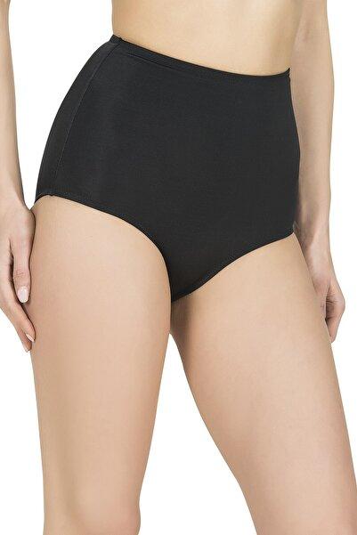 Endeep Kadın Yüksek Bel Siyah Bikini Altı