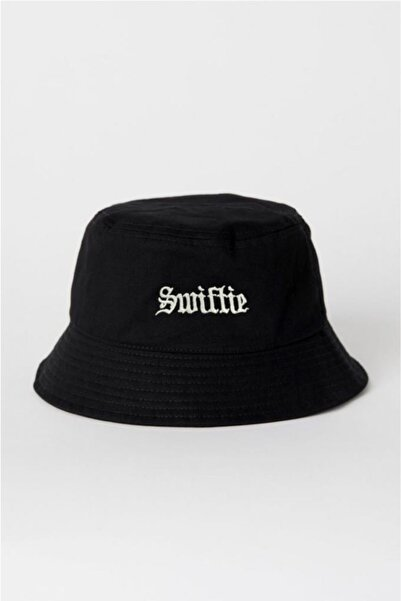 HemenALbence Siyah Swiftie Balıkçı Şapka Bucket Hat