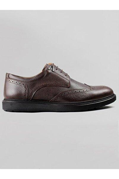 Serdar Yeşil Bora Erkek Hakiki Deri Oxford Ayakkabı-kahverengi