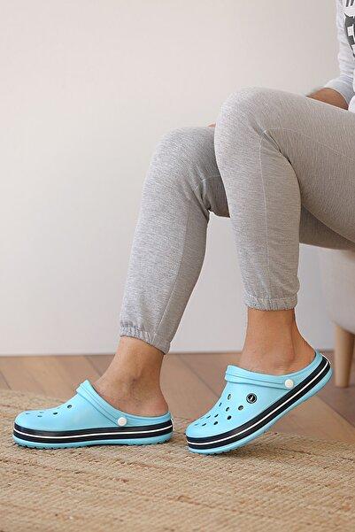 Pembe Potin Unisex Mavi Sandalet