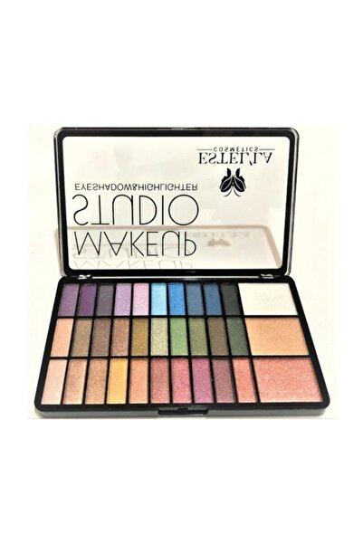 Estella Make Up Studıo 30 Lu Far+3lü Highligter Palet