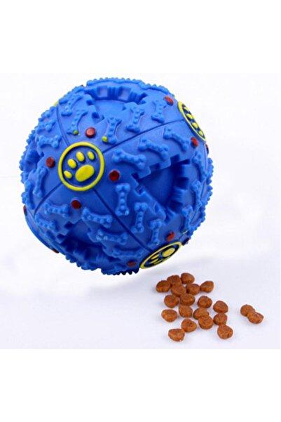 Bobo Köpekler Için Plastik Sert Top Gumi Sesli 12 Cm Mavi