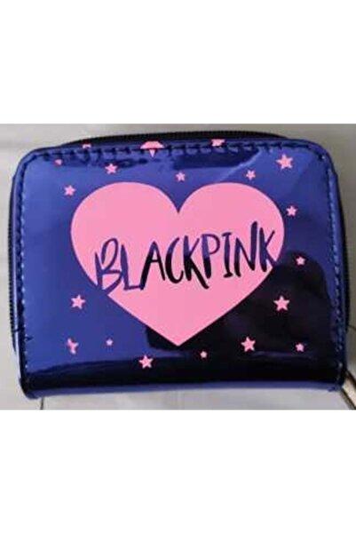 EstaRosa Taros Unick Color Parlak Kare Black Pink Cüzdan