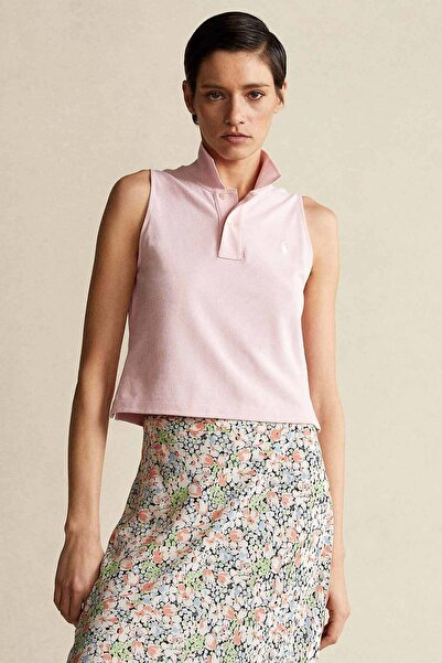 Polo Ralph Lauren Kadın Polo Yaka Kolsuz T-shirt