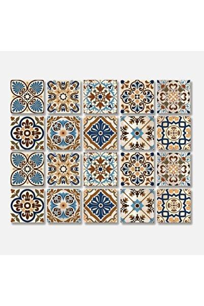 TİNK Moroccan Tile 10X10 Cm Desenli Pvc Karo Asorti