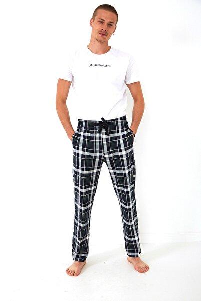 FSM Ekose Kareli Cepli Kordonlu Haki-beyaz Pijama Altı Birmingham