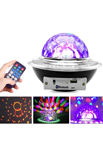 BSD GİFTED Disko Topu Rgb Ledli Kumandalı Bluetooth Usb Hoparlör Sese Duyarlı Lamba