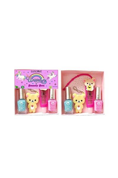 Suncoat Unicorn Beauty Box - Bubble Gum Aromalı Koala Koala Ve Pembe + Turkuaz Renkli Oje