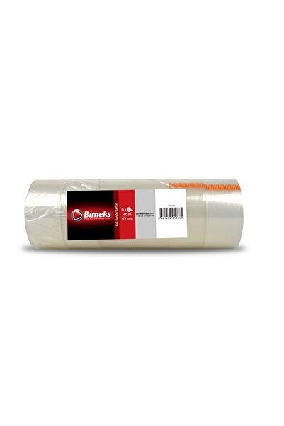 bimeks Koli Bandı 45mm X 40m Acrylik Şeffaf 6'lı