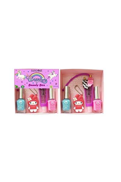 Suncoat Unicorn Beauty Box - Bubble Gum Aromalı Ice Cream Ve Pembe + Turkuaz Renkli Oje