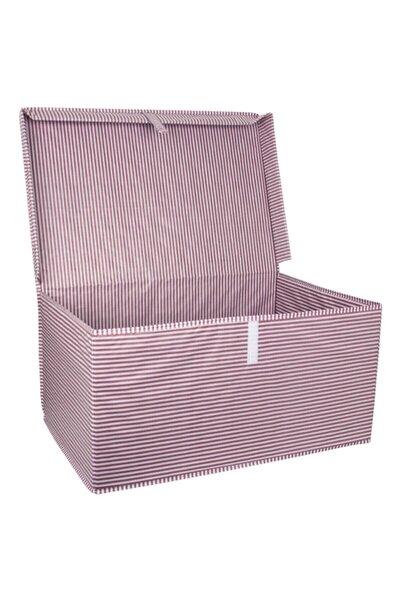 Modaxstore Çok Amaçlı Hurç & Kutu Su Geçirmez Kumaş Kapaklı Düzenleyici Pembe(60x40x30cm)