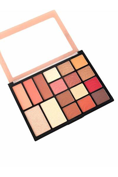 AİLY COSMETİCS Rose Lumınıce Model 17'li Makyaj Paleti - Eyeshadow & Blusher & Hıghlıght Palette